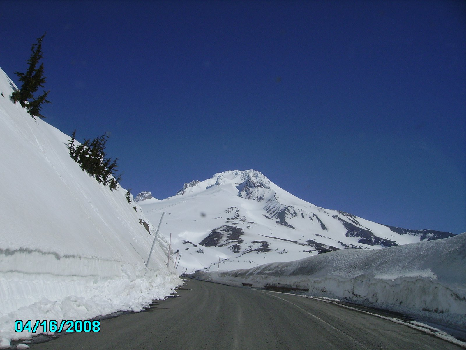 Hood from the road headed to timberline