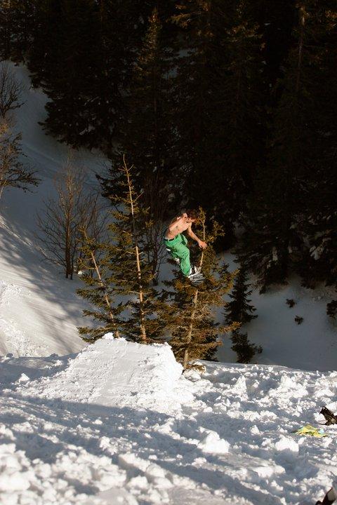 Snowboard treebonk #1