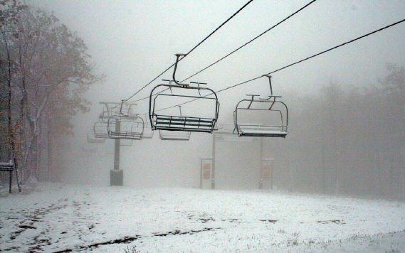 Bristol Mountain first snow november 2008