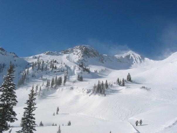 Backside bowl at Snowbird