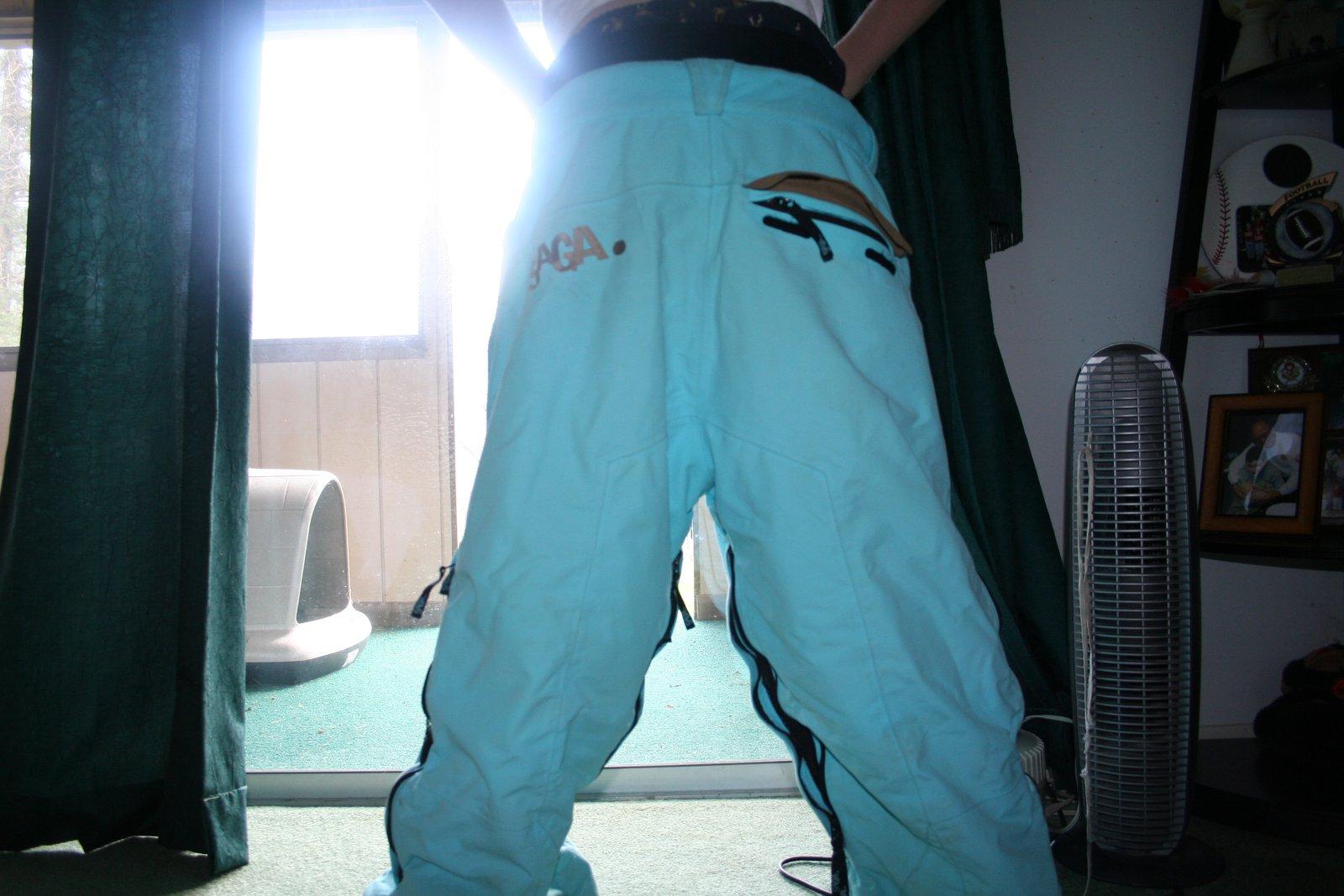 Back of saga pants