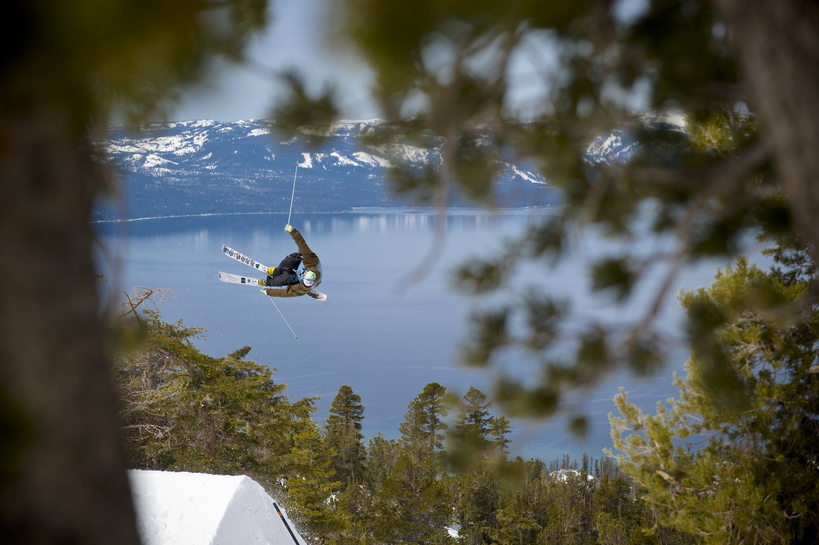 Sick shot of cork 5 with lake tahoe in the back