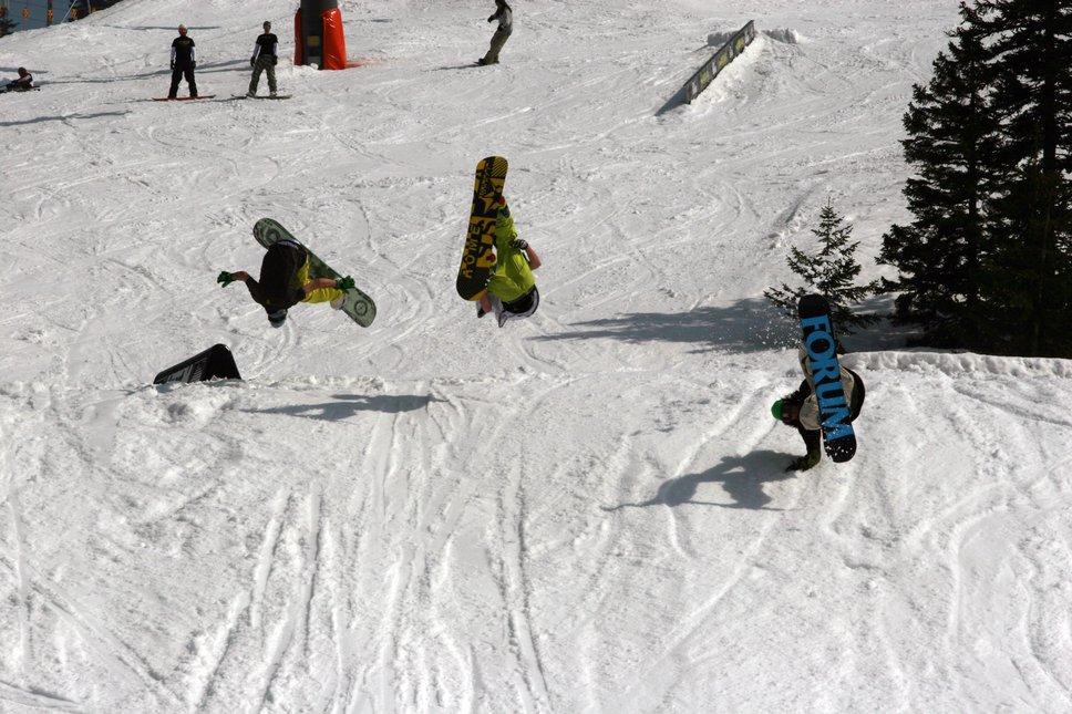 Snowboard 3x knucklefront