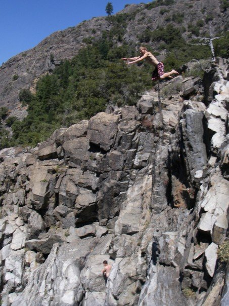 65 foot cliff