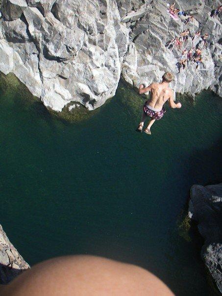 80 foot cliff