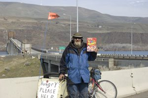 Hooked the homeless man some fruity pebbles