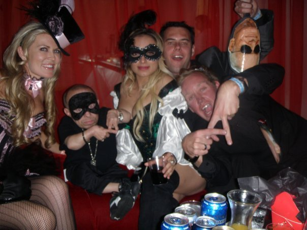 Partying with mini me playboy mansion