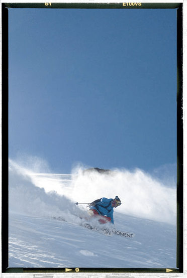 Moment Skis with Evolve Chile