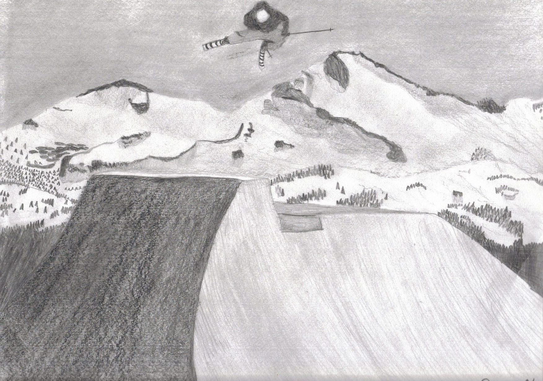 Skiing sketch