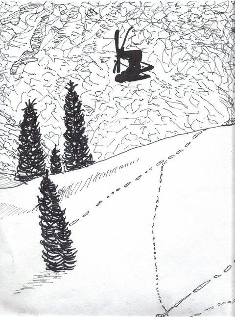 Sharpie skier