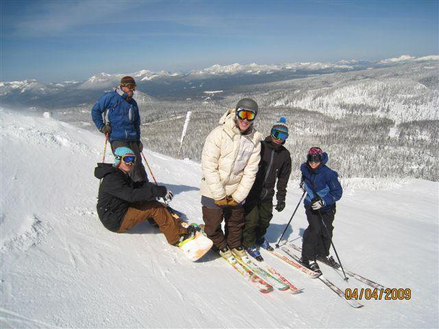 Family day of skiing
