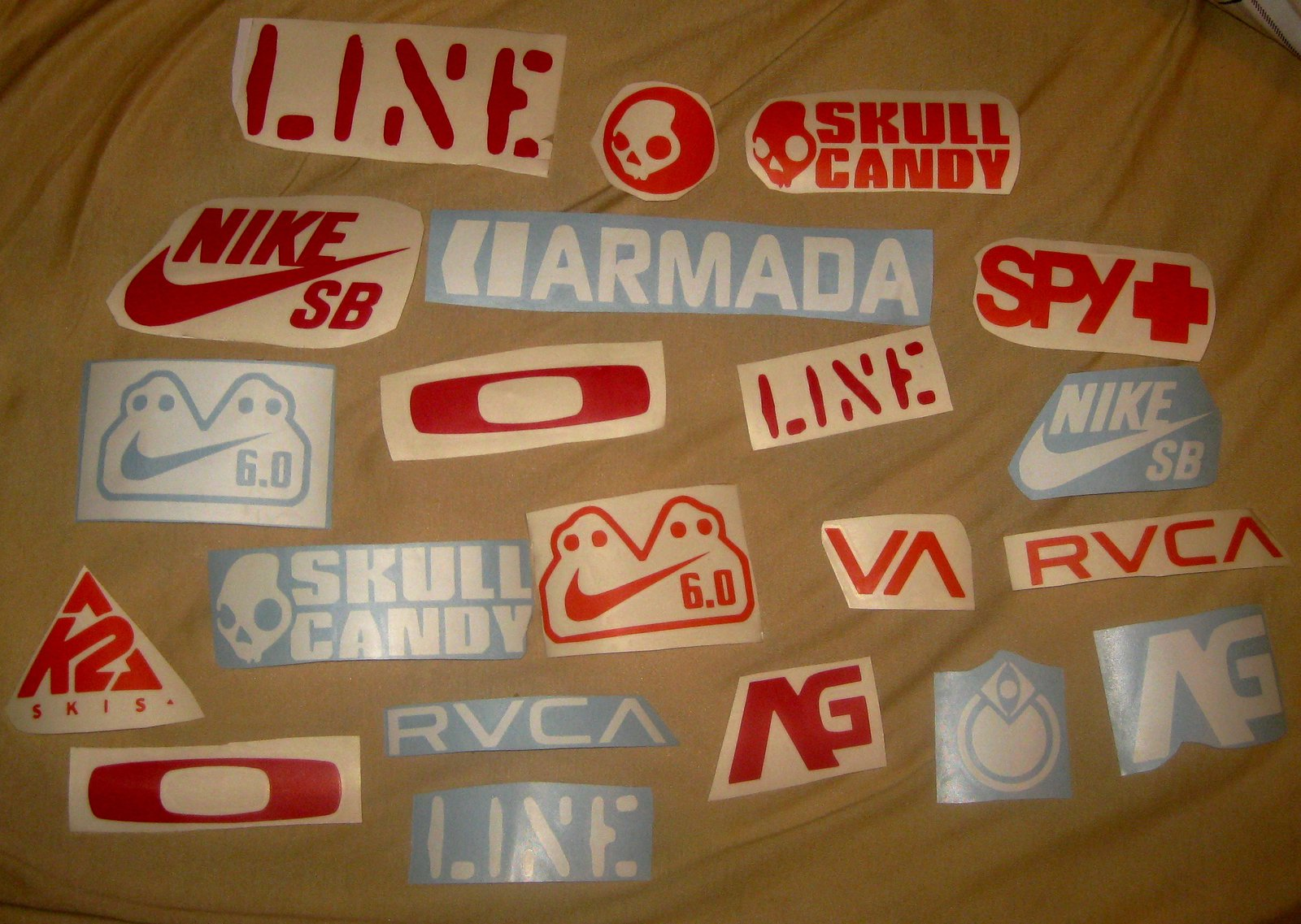 Ski stickers and die cut decals