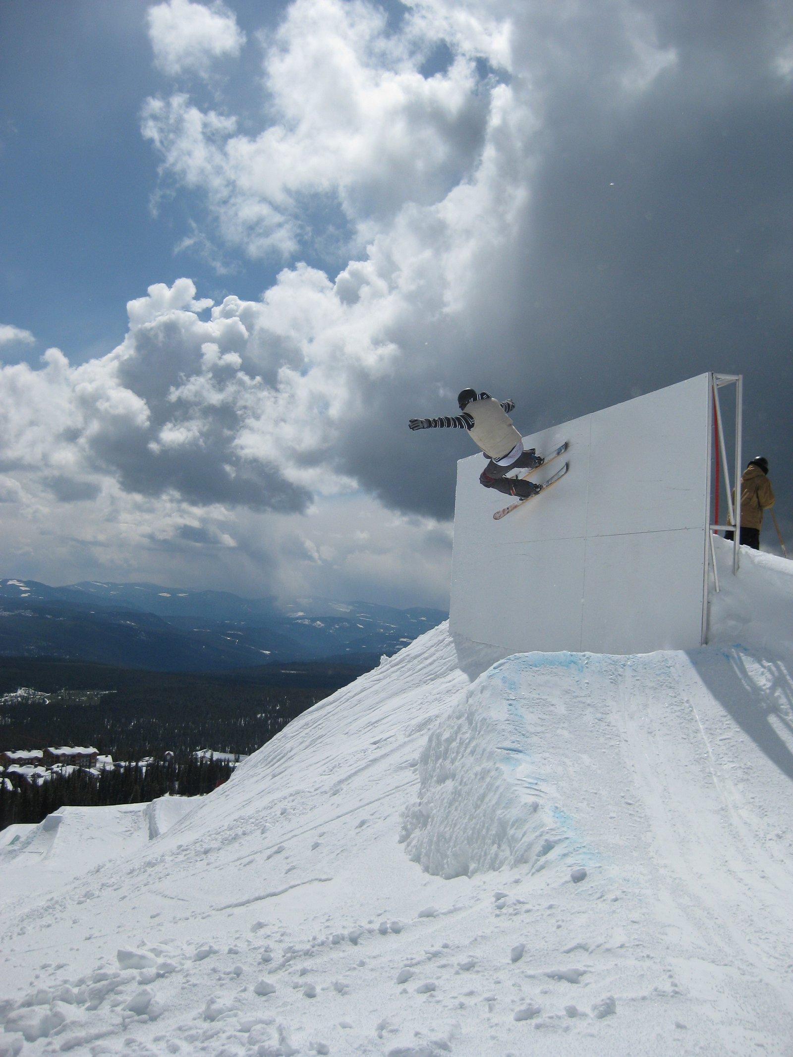 Wall ride at big white
