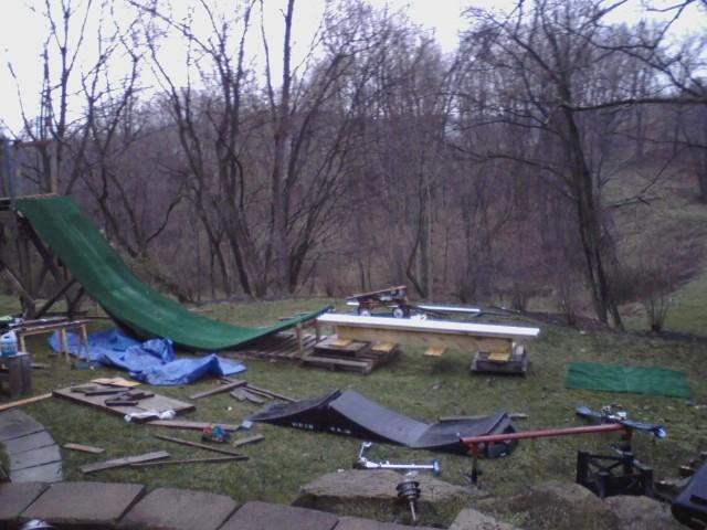 Friend's backyard setup