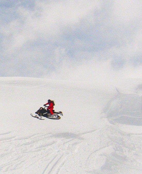 Huckin the sled