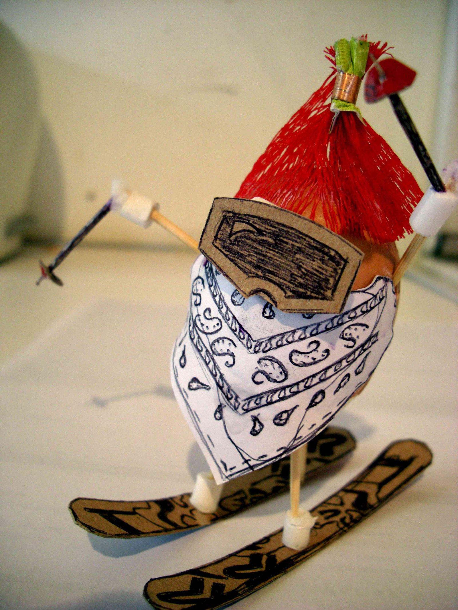 Easter Egg Skier