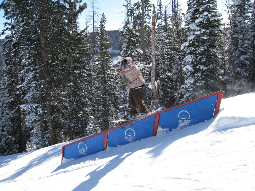 Fun Little Down Rail at Big Sky