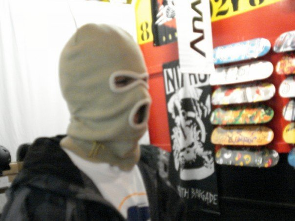 Robbing a store