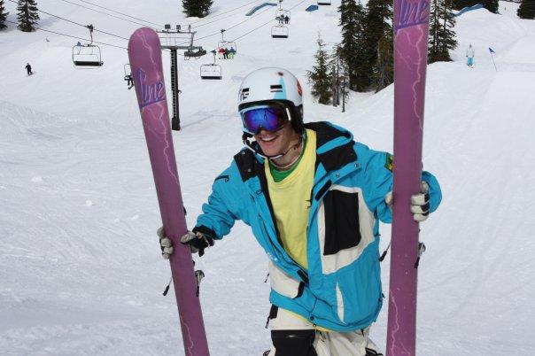 Ripped ski off, hiking back up