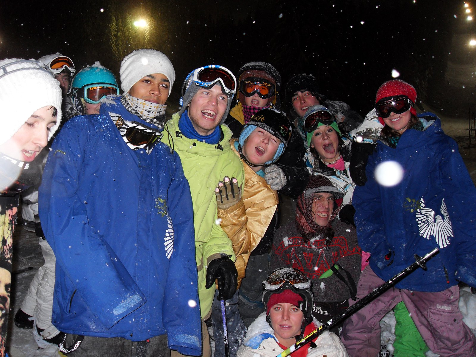 Windells Campers Skiing in the New Year