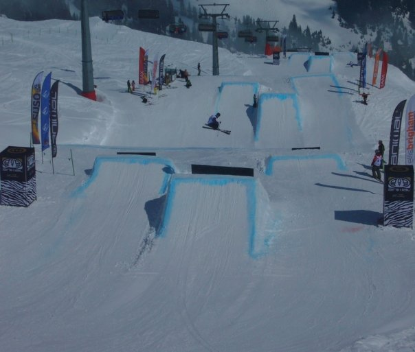 The slopestyle course at the Brits