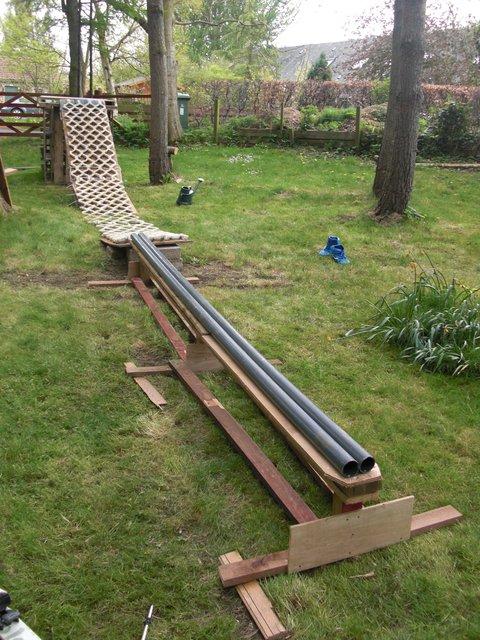 Backyard summer jib rail