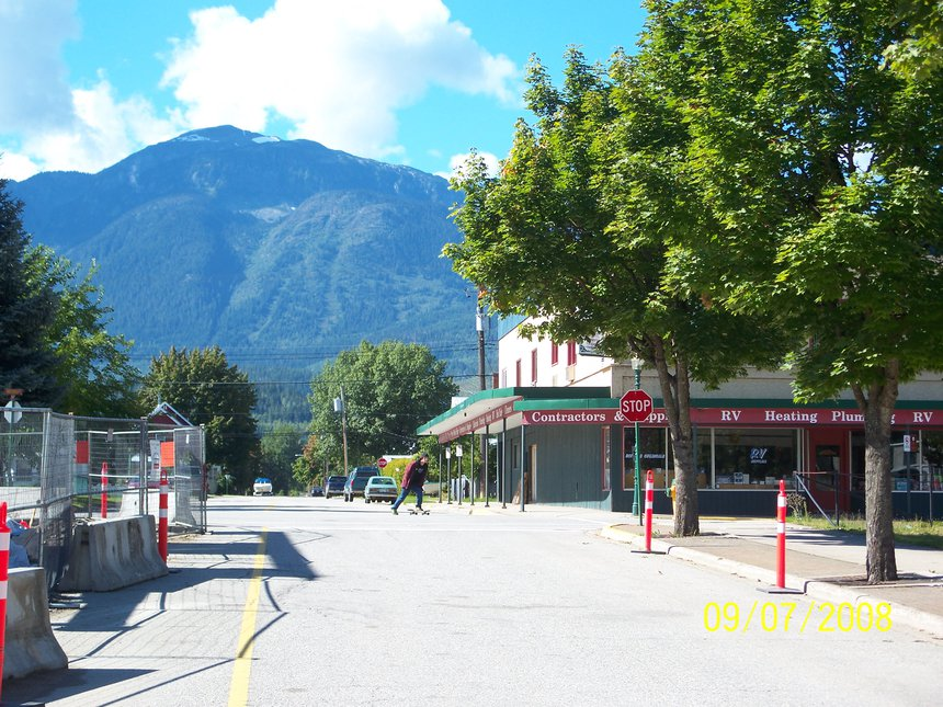 Empty Streets in Revelstoke