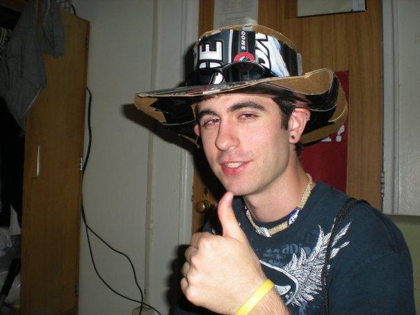 Keystone ice beer box hat