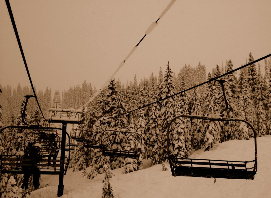 Pow day on Jupiter chair