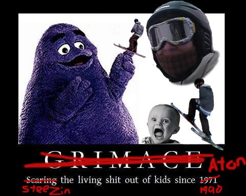 East8 photoshopped with his best buddy Grimace