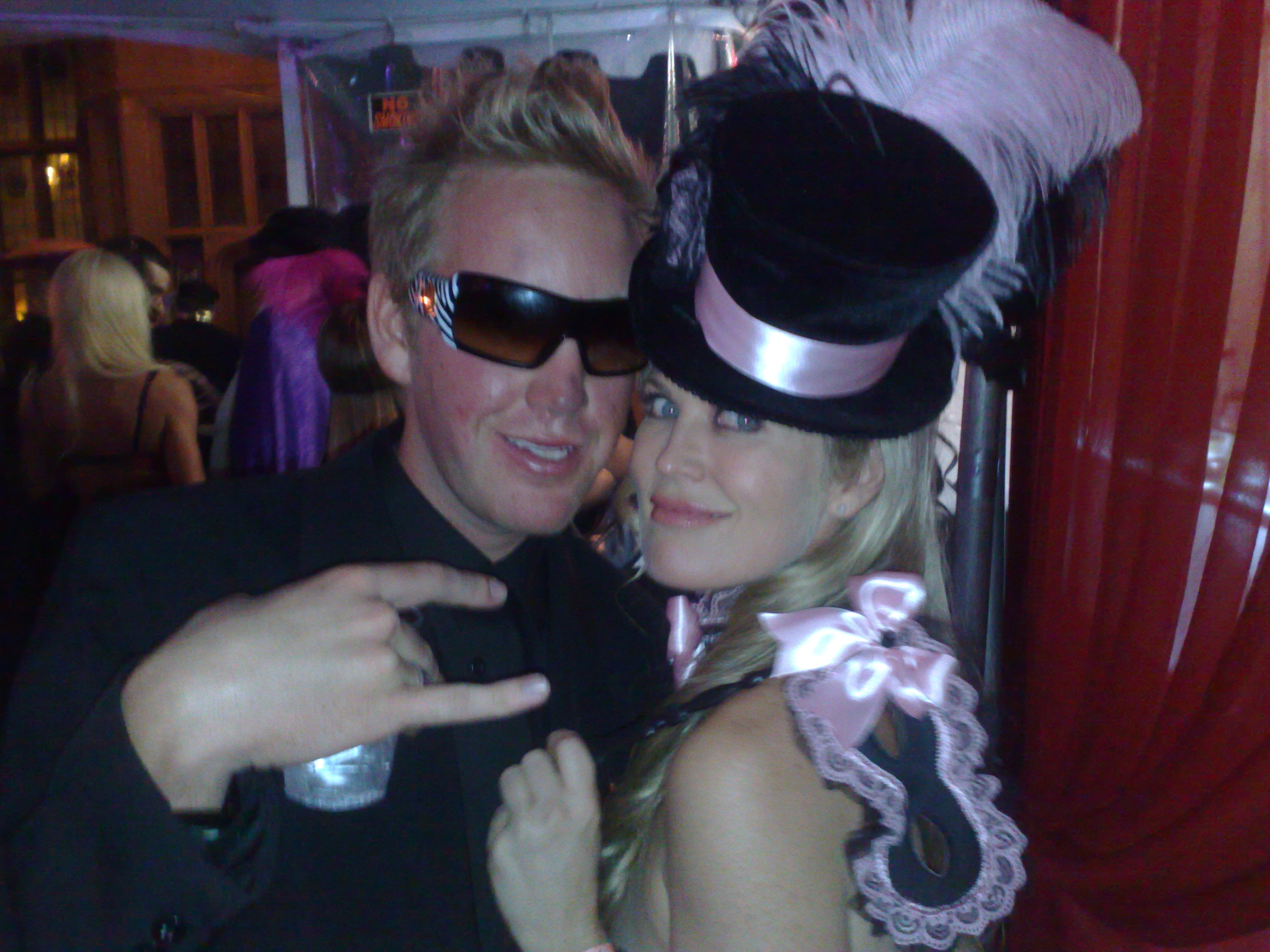 Kristy and I Playboy mansion