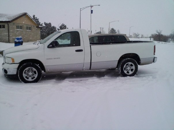 My truck in the only snow i saw all year