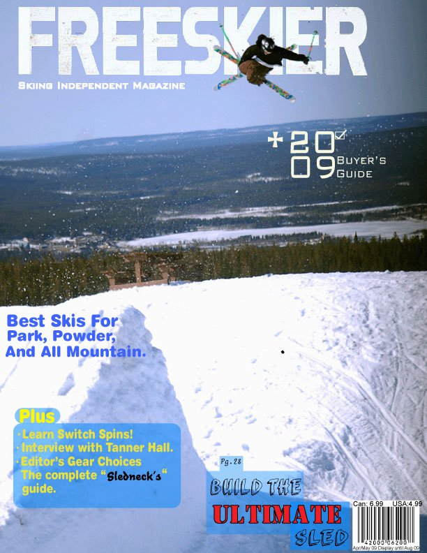 Freeskier Cover Page for School
