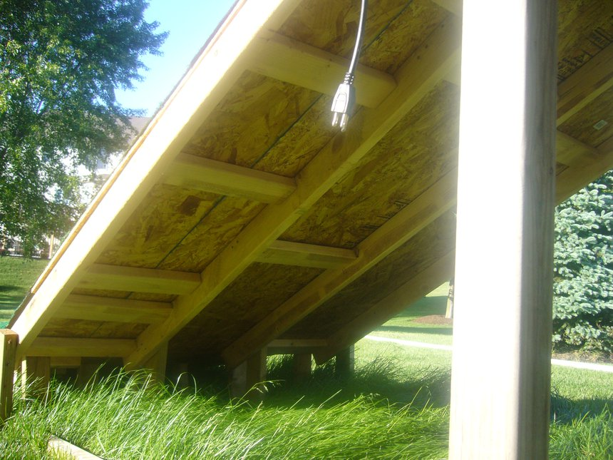 Under view of support planks