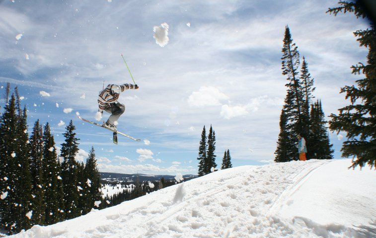 Kevin Spinning on Rabbit Ears Pass