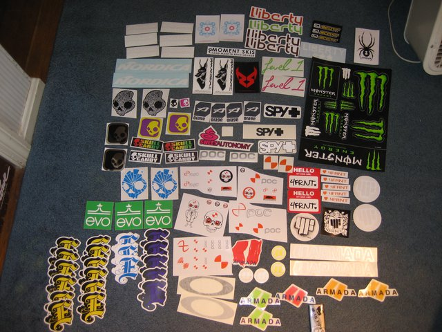 All stickers 6/11/09 - 1 of 2