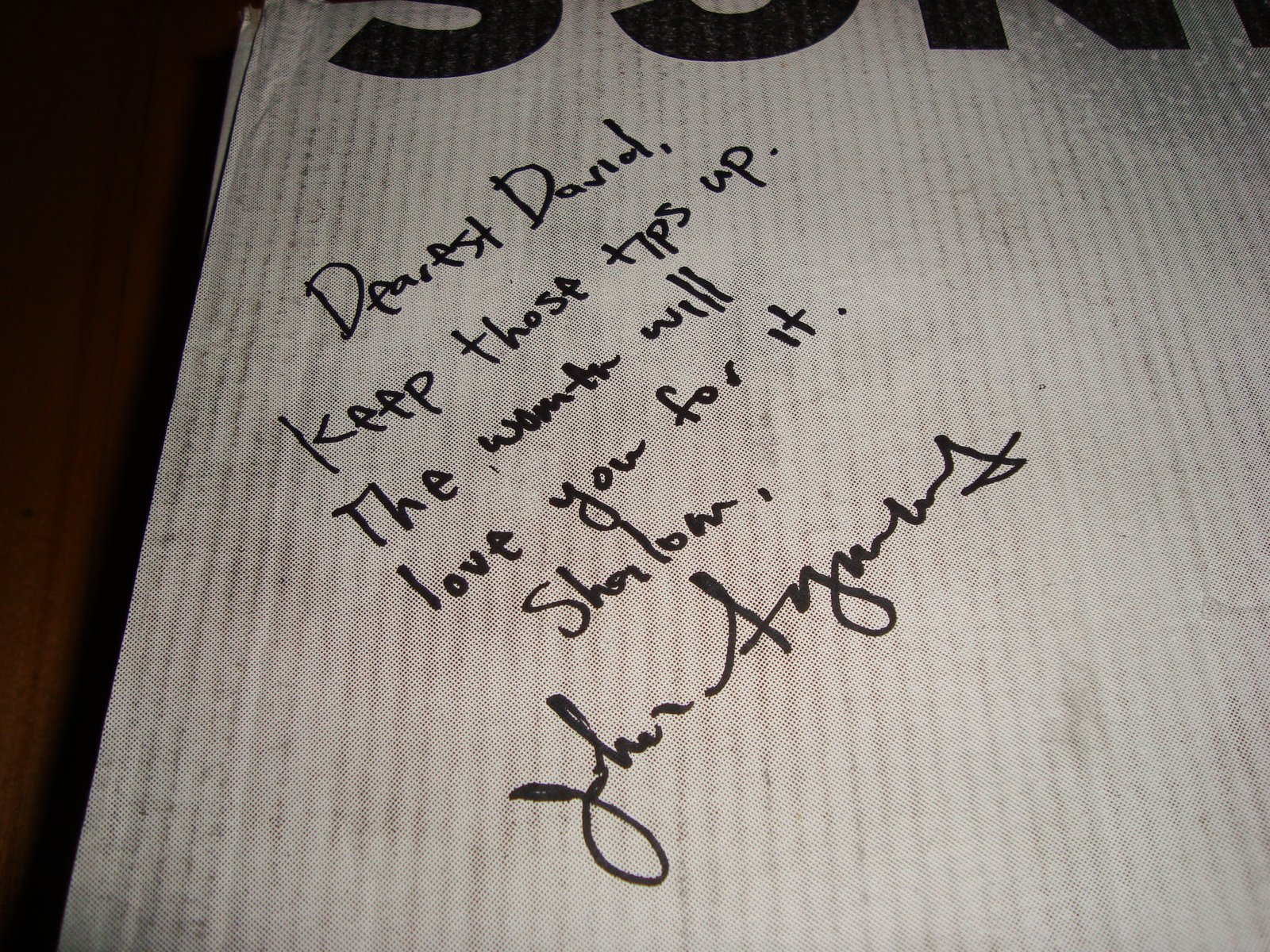 Signed by symms
