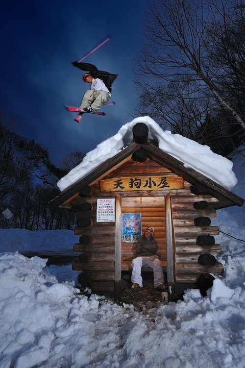 Jump over the rest house