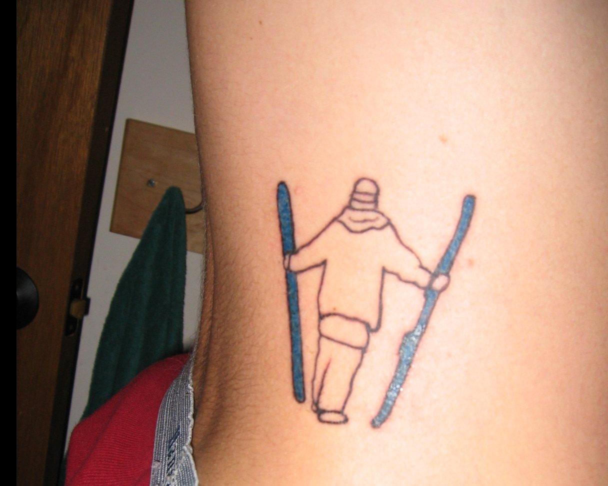 Ski Tattoo