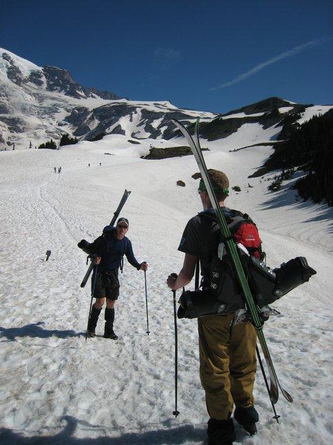 Hiking to Camp Muir