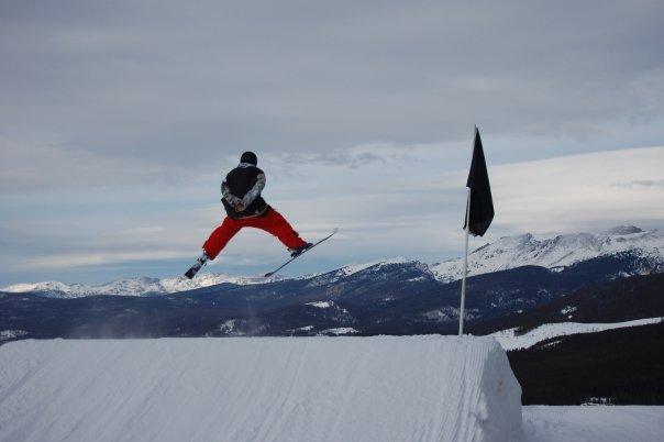 Hitting a jump...