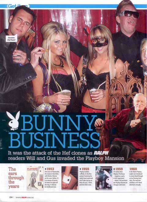 Wasted at the playboy mansion