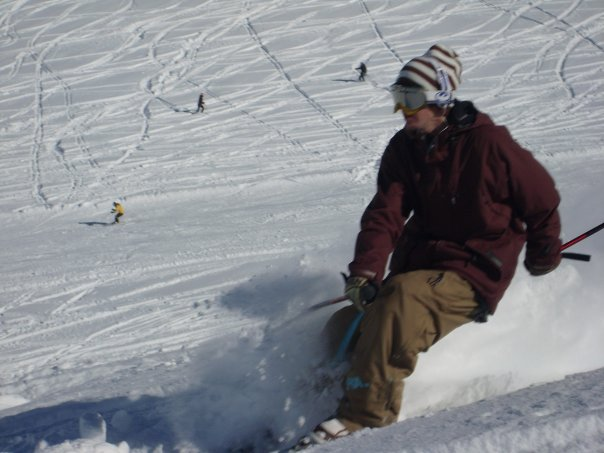Yesterday pow skiing