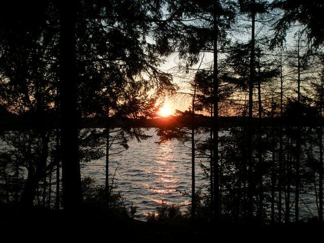 Sunset on cranberry lake1