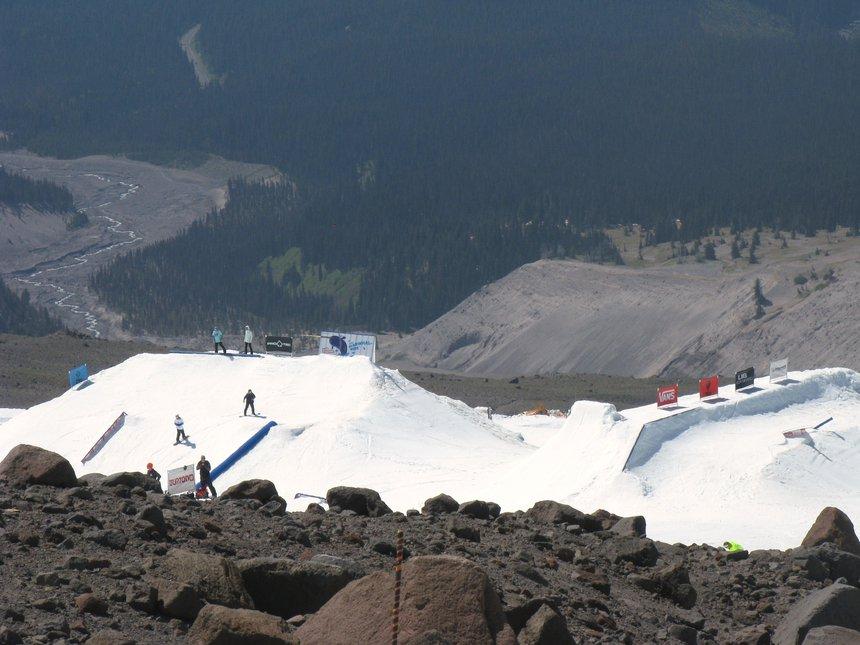 Mt Hood public terrain park