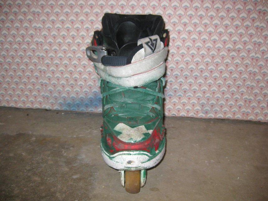 Front of left skate