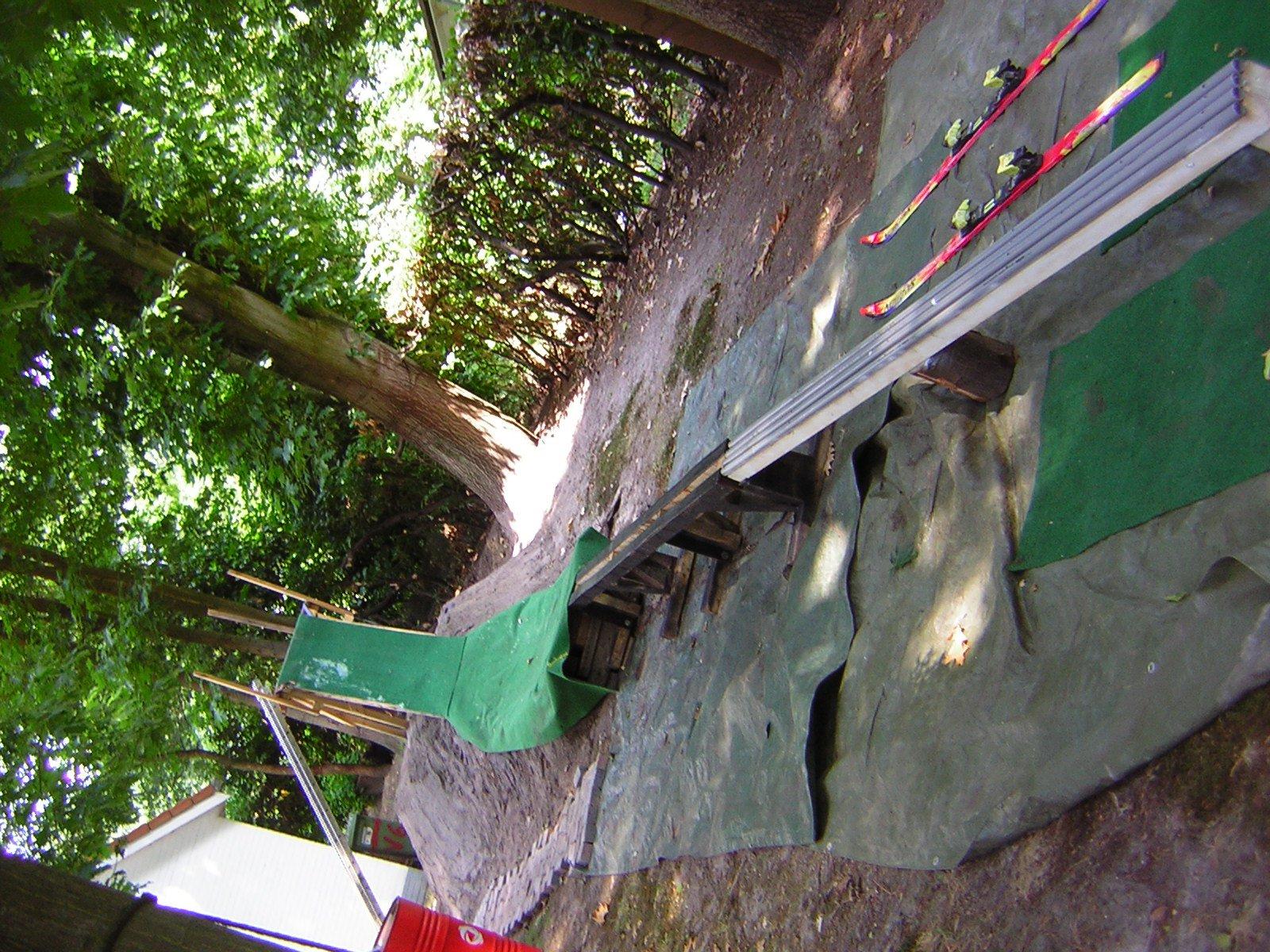 Backyard setup, 270cm and 300cm rail