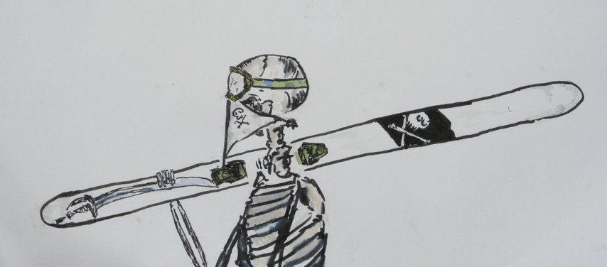 Skeleton Skier