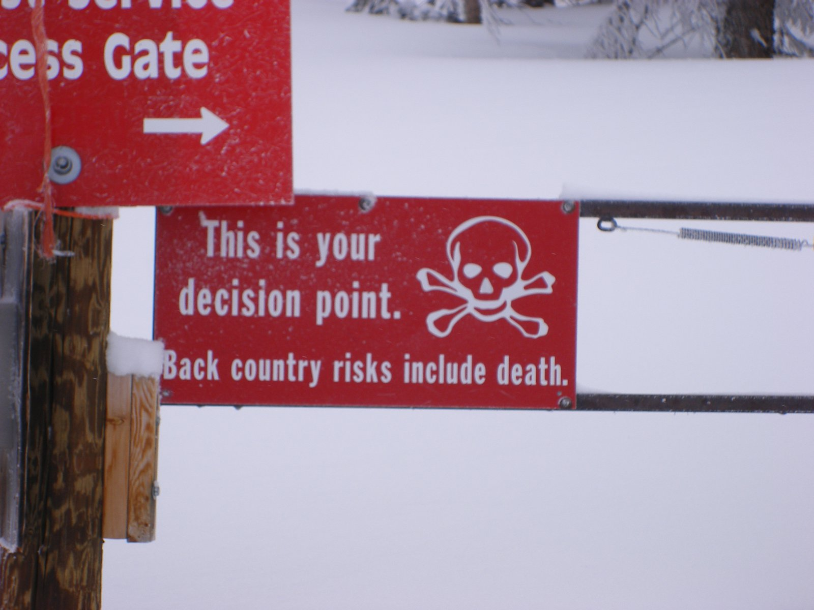 A sign at snowmass