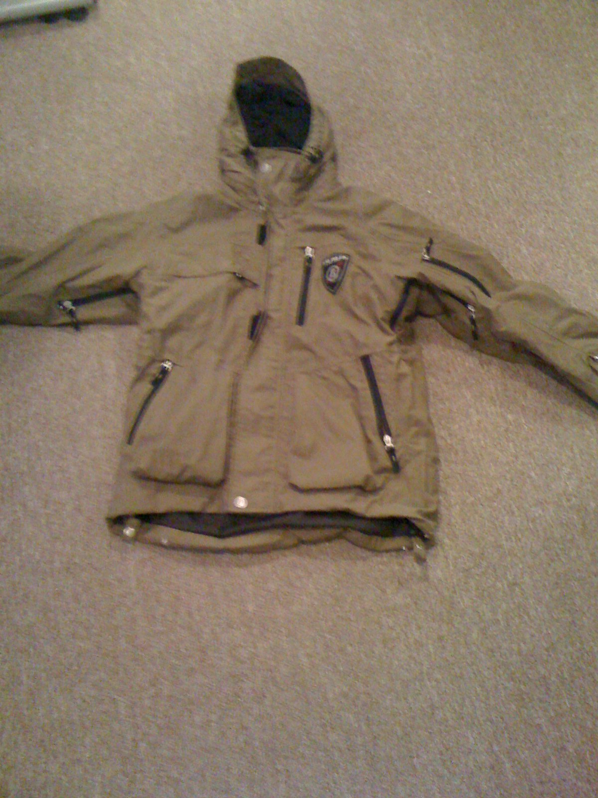 Fire and Ice brown Jacket size Medium and Orage pants size Small